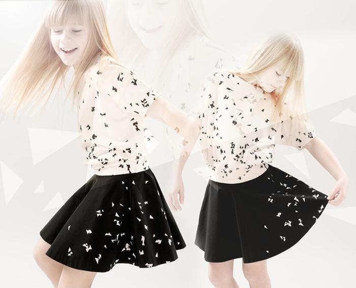 Kids-girl-woven-top-skirt-aop