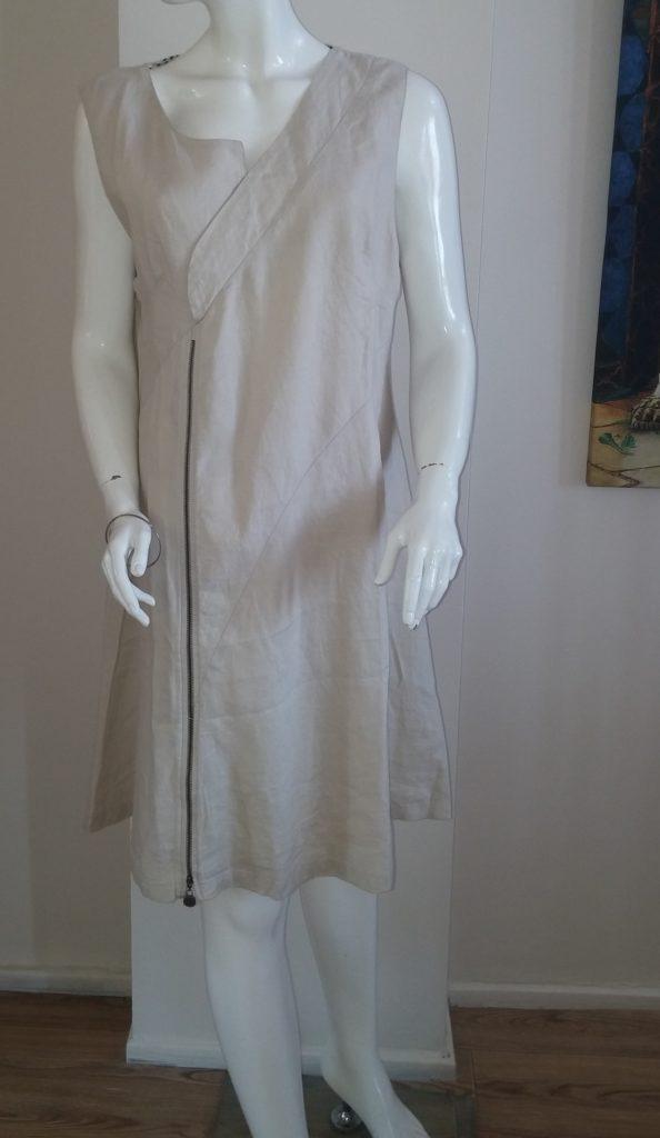 women-linen-zip-dress